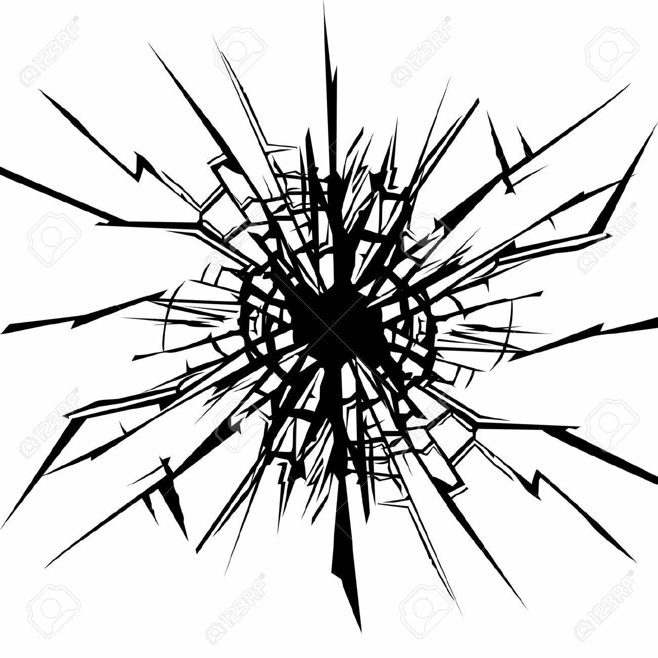 Clipart Cracked Mirror In