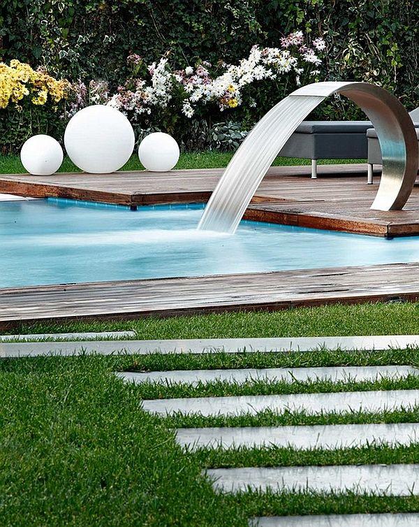 Pool Waterfalls Ideas backyard vanishing edge swimming pool waterfalls design ideas new jersey Breathtaking Pool Waterfall Design Ideas