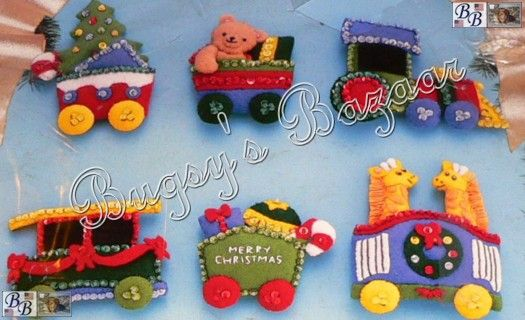 Christmas train felt ornament Christmas Pinterest Christmas