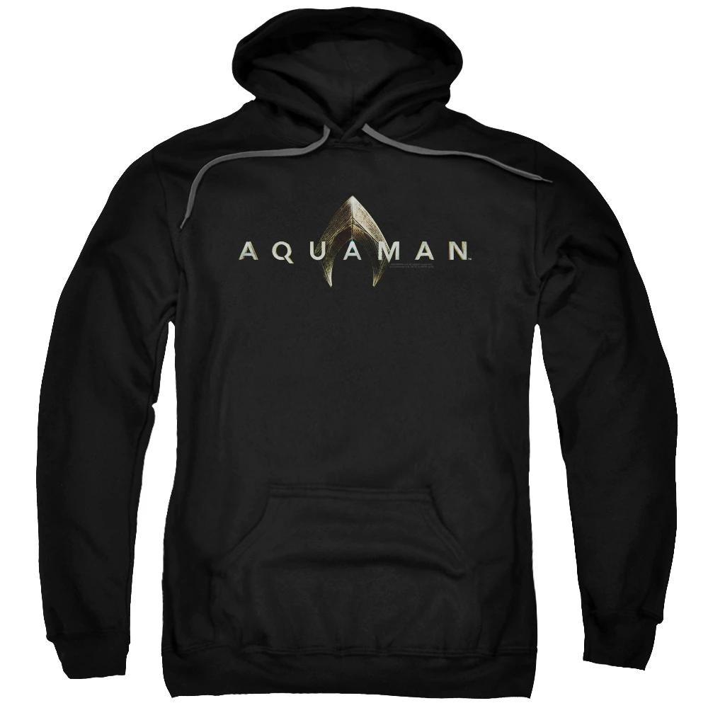 Aquaman Movie Logo Hoodie Hoodies Hoodies Men Pullover Print Clothes