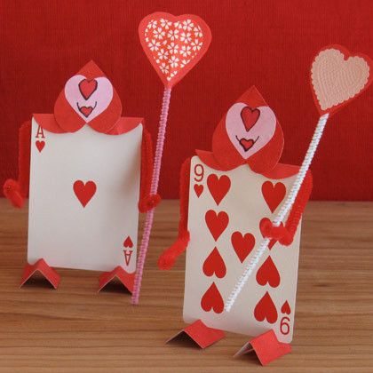 Alice In Wonderland Cards Of Love Easy Craft And Great Idea For