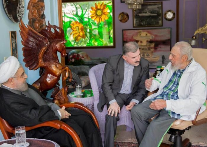 #Cuba: #FidelCastro recibe al presidente iraní #HasánRohaní  (FOTO: GRANMA)