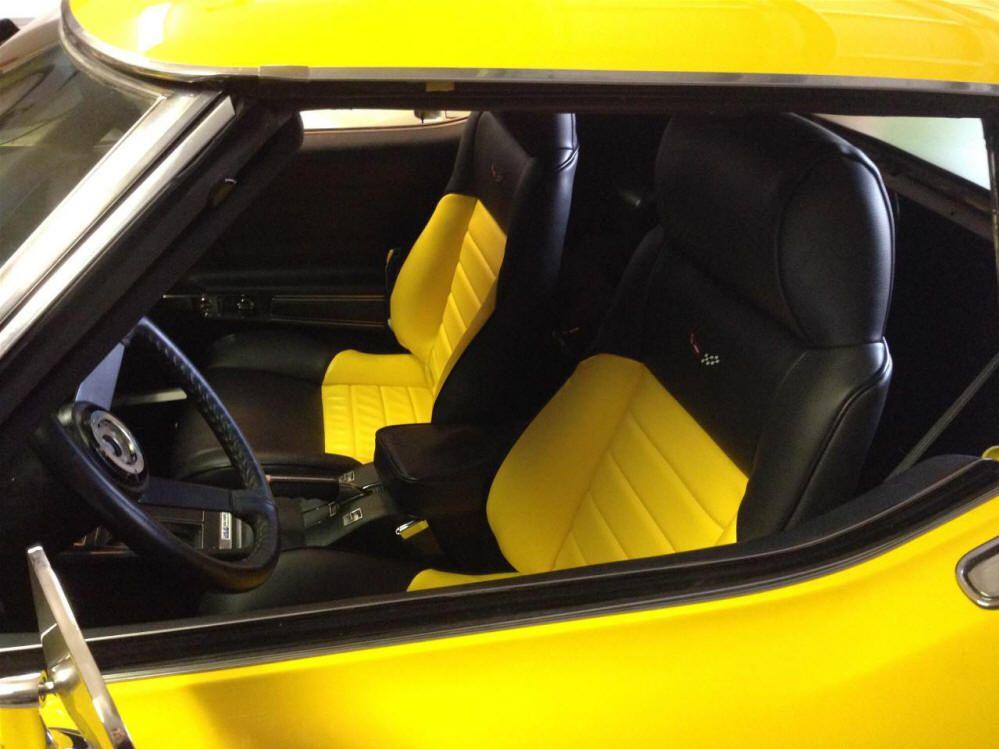 MrMikes Fiero seats in Corvette Semi-Sport Style Black & Yellow Vette #3 Logos 1976 Stingray Keith C. in Florida