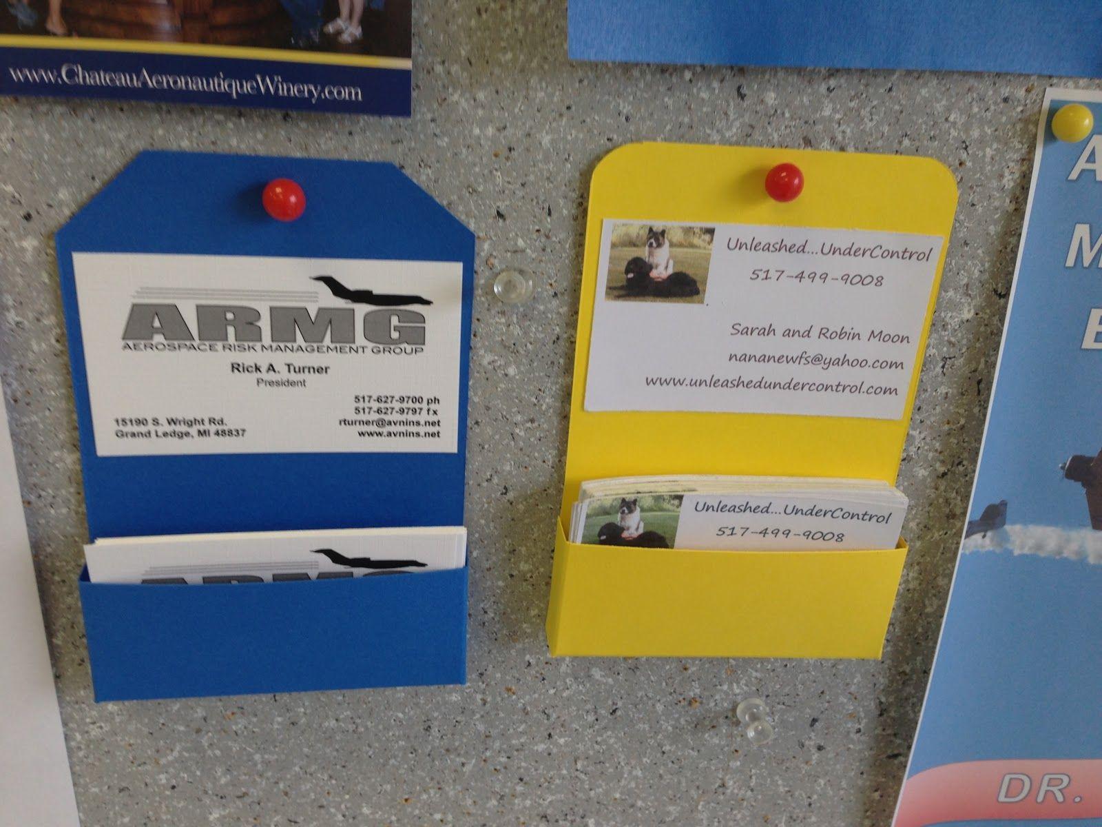 Business Planning Board | Bulletin Board Business Card Holder ...