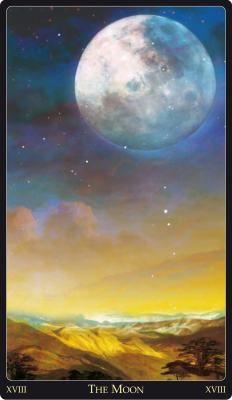 XVIII The Moon from the Lebanese Tarot