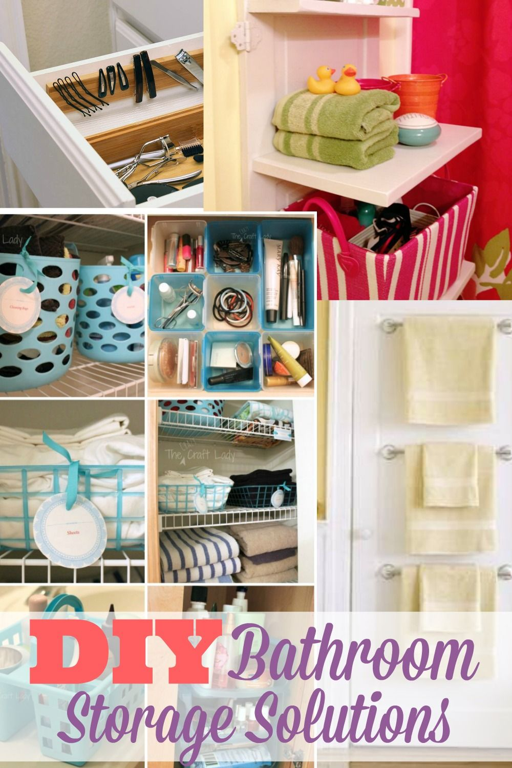 10 Easy DIY Bathroom Organization Ideas | Bathroom storage ...