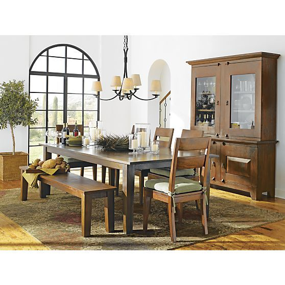 "Basque Honey 104"" Dining Table In Dining, Kitchen Tables"