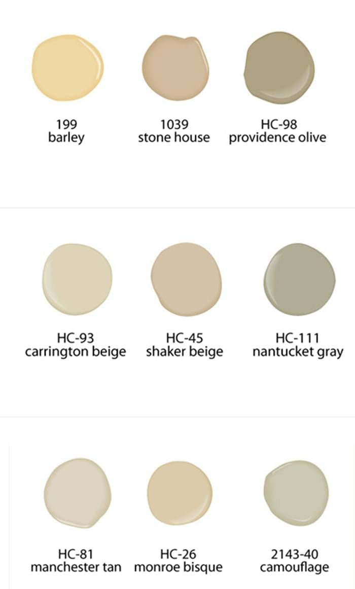 Neutral paint colors from benjamin moore paints home color schemes