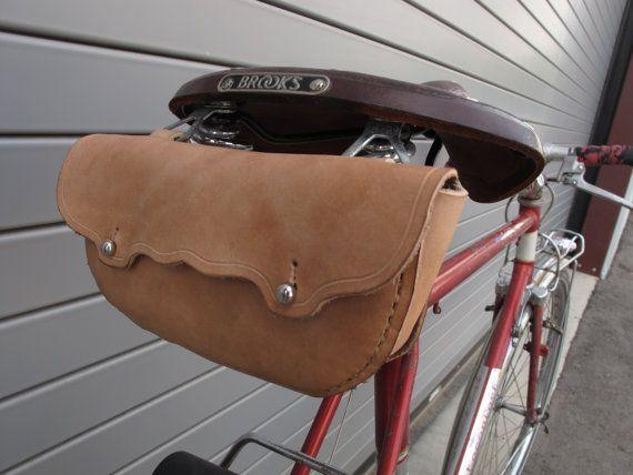 Leather Bicycle Saddle Bag