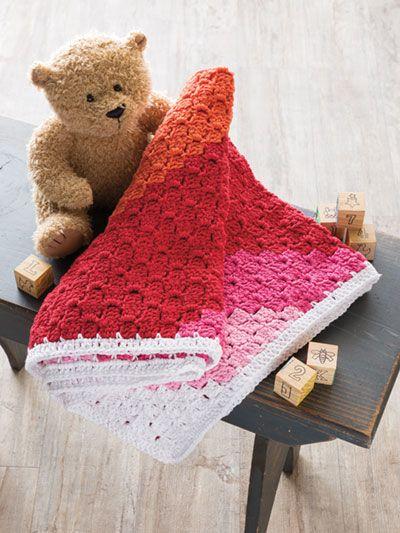Free Crochet Sweet Sunset Baby Blanket pattern featured in Season 8 ...