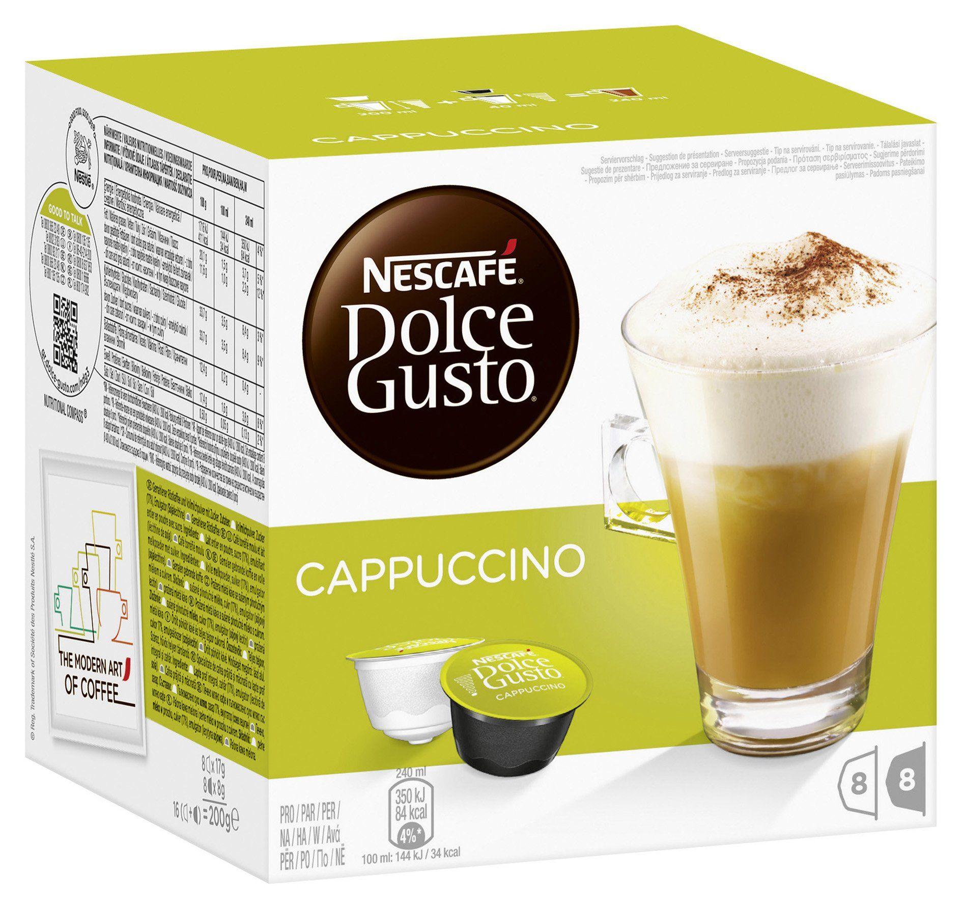 Nescafé Dolce Gusto Cappuccino 16 Capsules (Pack of 3