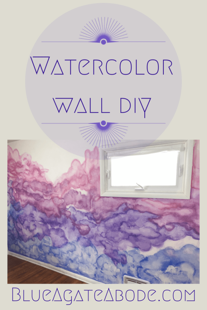 Little Girls Room Update Watercolor Wall Diy Diy Wall Painting