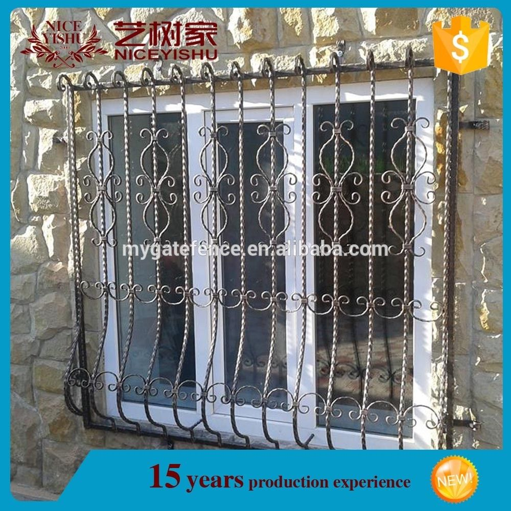 Simple iron windows grills design modern house sliding