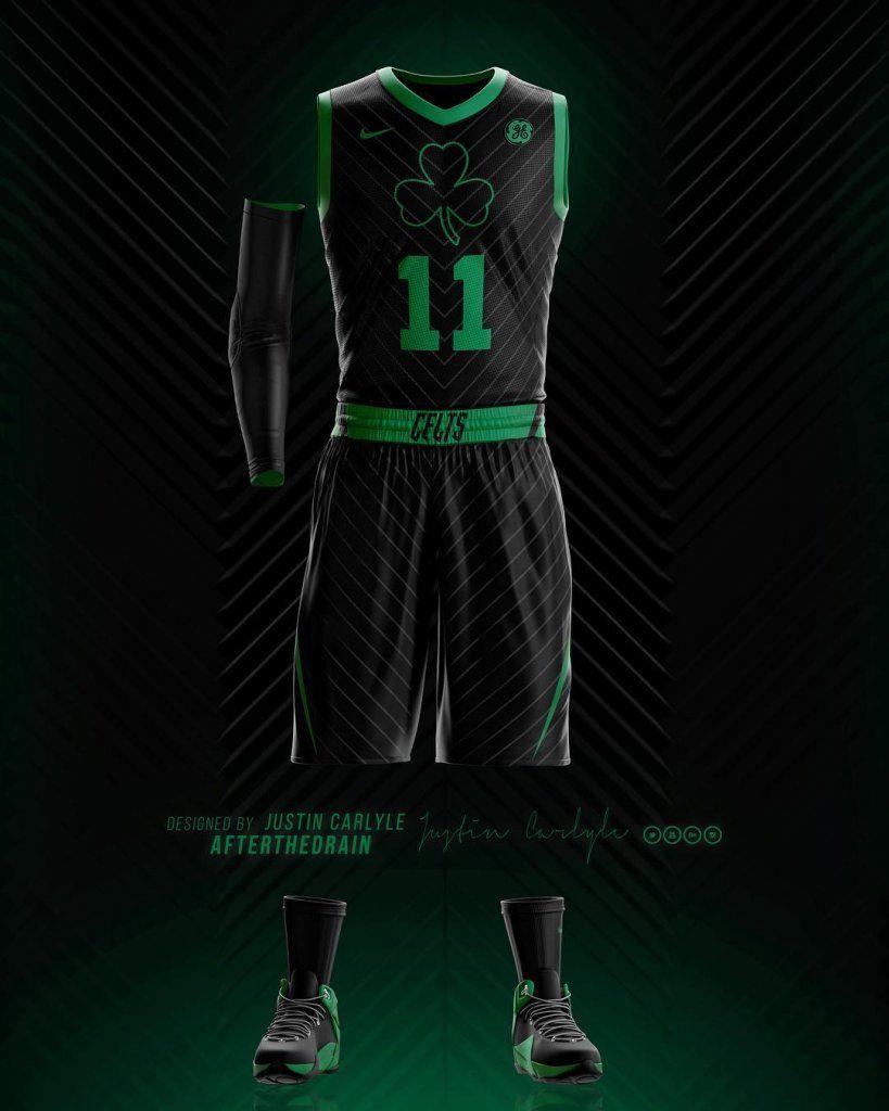Boston Celtics Nba Statement Uniform Concept C Basketball Uniforms Hall Of Fame Boston Celtics