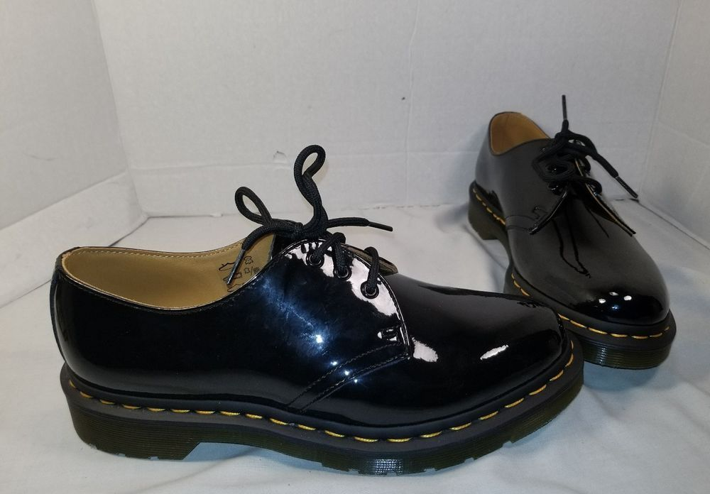 New Women S Dr Martens 1461 Black Patent Leather 3 Eye Oxfords Us Size 9 Drmartens 1461patent Black Oxfords Womens Women Shoes Black Patent Leather