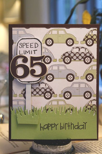 The Crafty Frugalista Speed Limit 65 65th Birthday Cards For Men