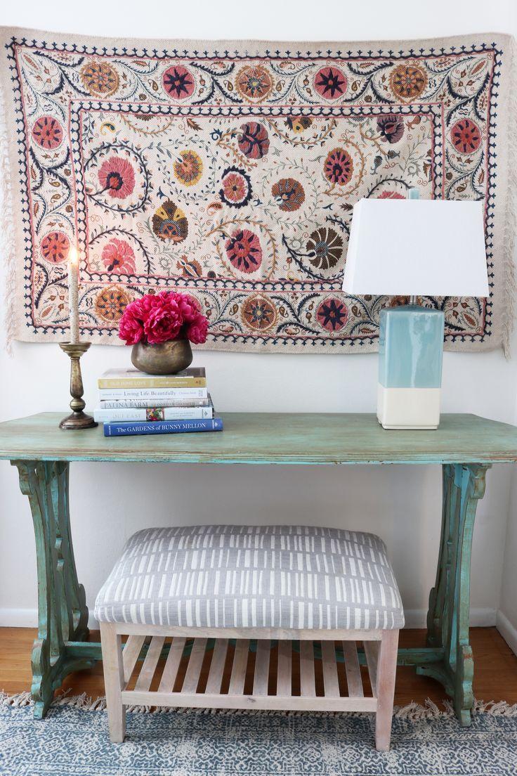 Hang a rug on a wall sparking joy room inspiration