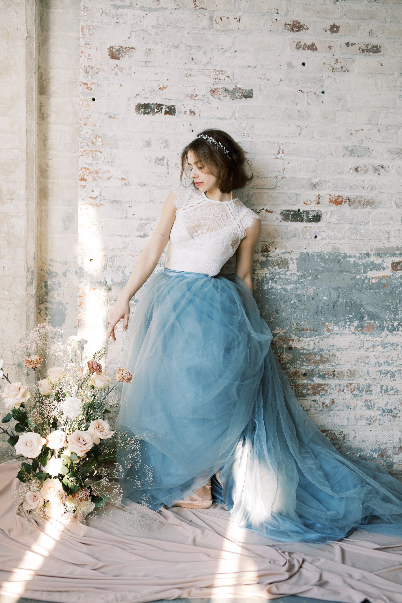 A Charming Shoot Showcasing A Graceful Ballerina Bride Blush Tones Blue Tulle And A Vintage Wedding Ring Once Wed Wedding Dress Trends Tulle Wedding Dress Alternative Wedding Dresses [ 2100 x 1400 Pixel ]
