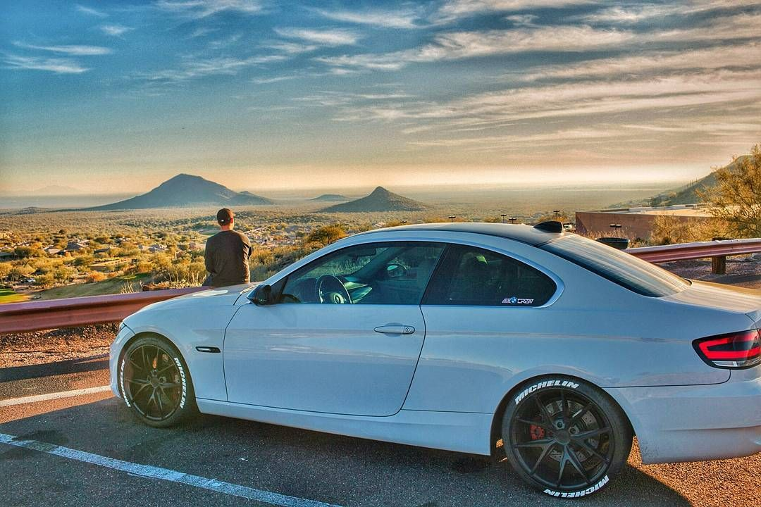 Use All The Filters Bmw 335i Coupe N54 E92 Ultimatedrivingmachine Modded Azbmwcrew Fountainhills Scenic Landscape Sunset Arizona Sky By Mister