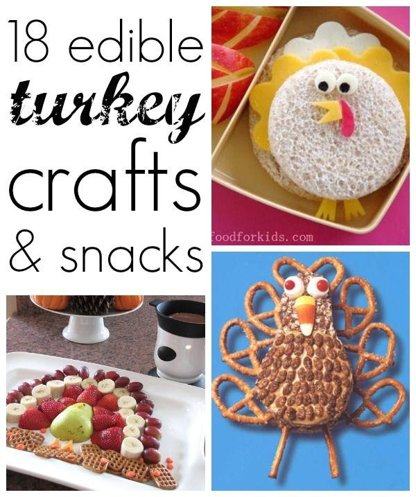 19 Edible Turkey Crafts Thanksgiving Crafts Thanksgiving Fun