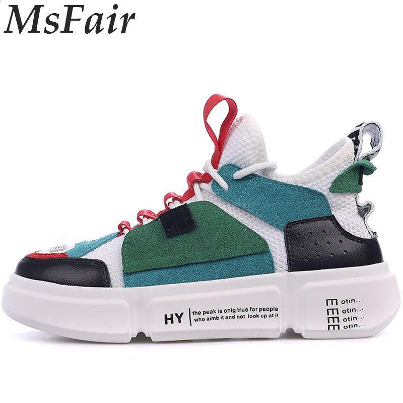 Msfair Nowe Kobiety Mezczyzni Buty Do Biegania Buty Do Chodzenia Buty Sportowe Dla Mezczyzn Oddychajaca Siat Women Platform Shoes Womens Sneakers Leather Women