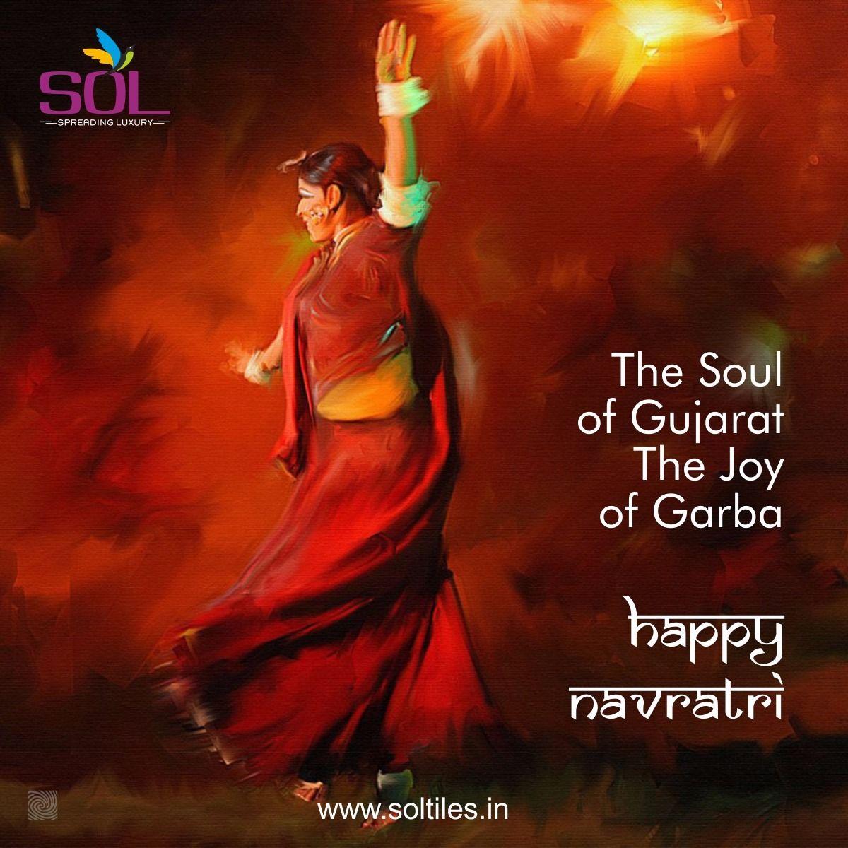 The Soul of Gujarat, the Joy of Garba - Happy Navratri! #soltiles