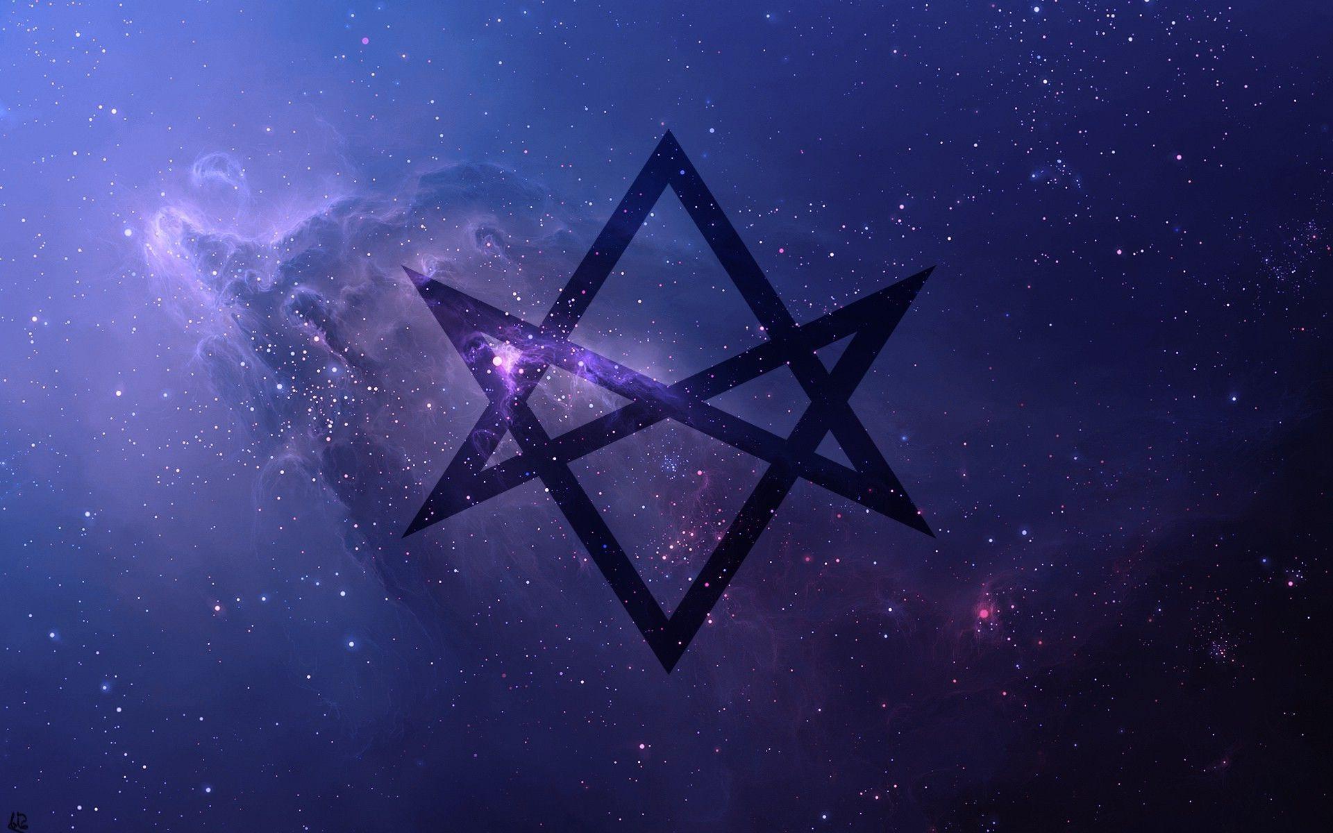 thelema, Unicursal Hexagram, Space, Universe, Purple