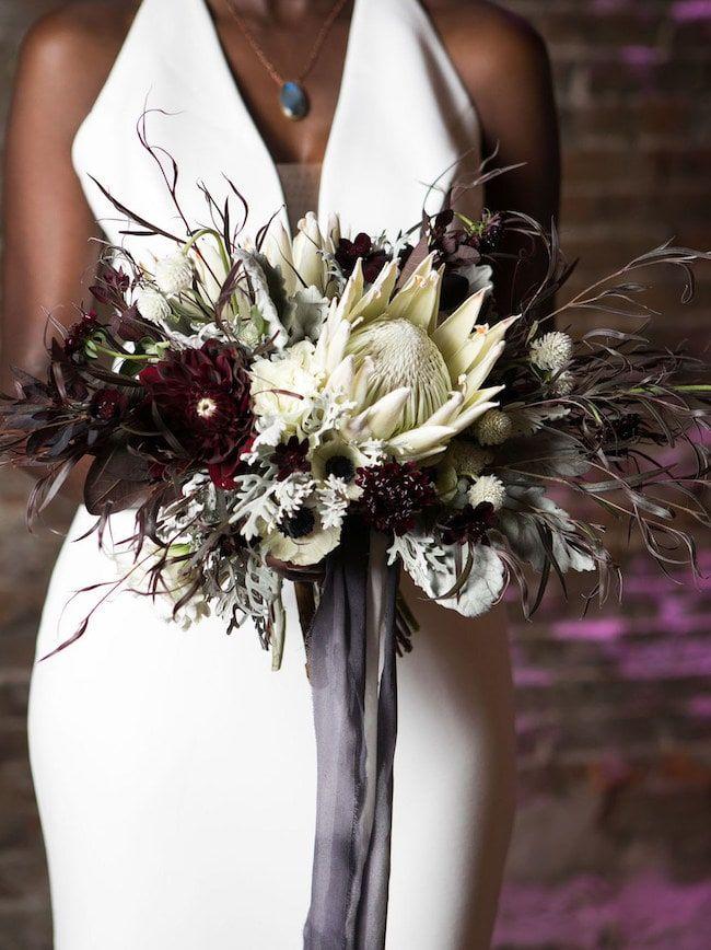 20 Dark & Moody Jewel Tone Bouquets