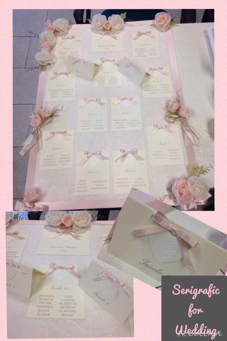 Estremamente Tableau mariage con fiori e cuori con iniziali a rilievo, tutto  XW35