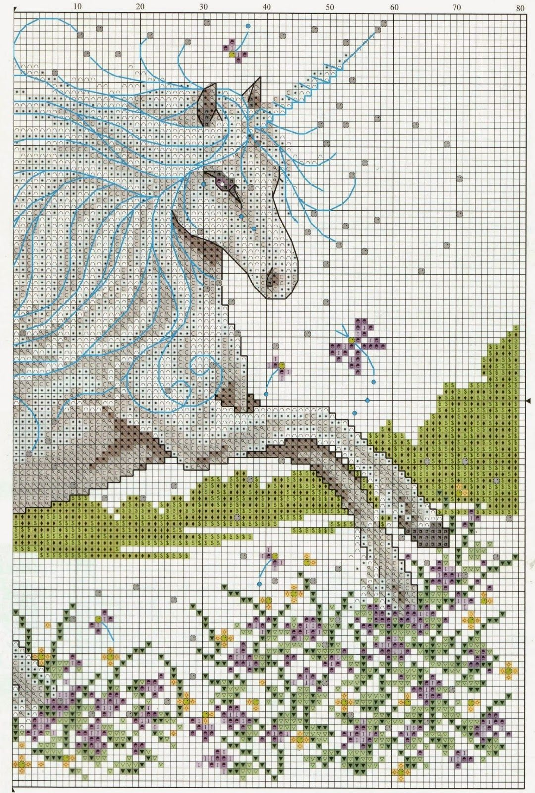 GRAFICOS PUNTO DE CRUZ GRATIS : UNICORNIO(10) | Cross stitch fun ...