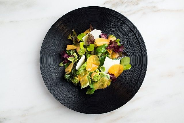 The Modern - Salad with Pecorino and Persimmon (Image credit: Evan Sung)