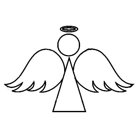 Angel simple. Outline of an google