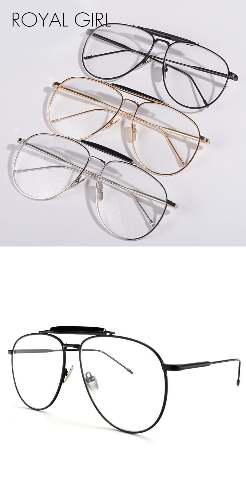 ecd797704f Women chic eyeglasses frames vintage clear lens glasses plain glasses men  oculos femininos gafas ss018  sunglasses  eyewear  unisex  pilot  uv400 ...