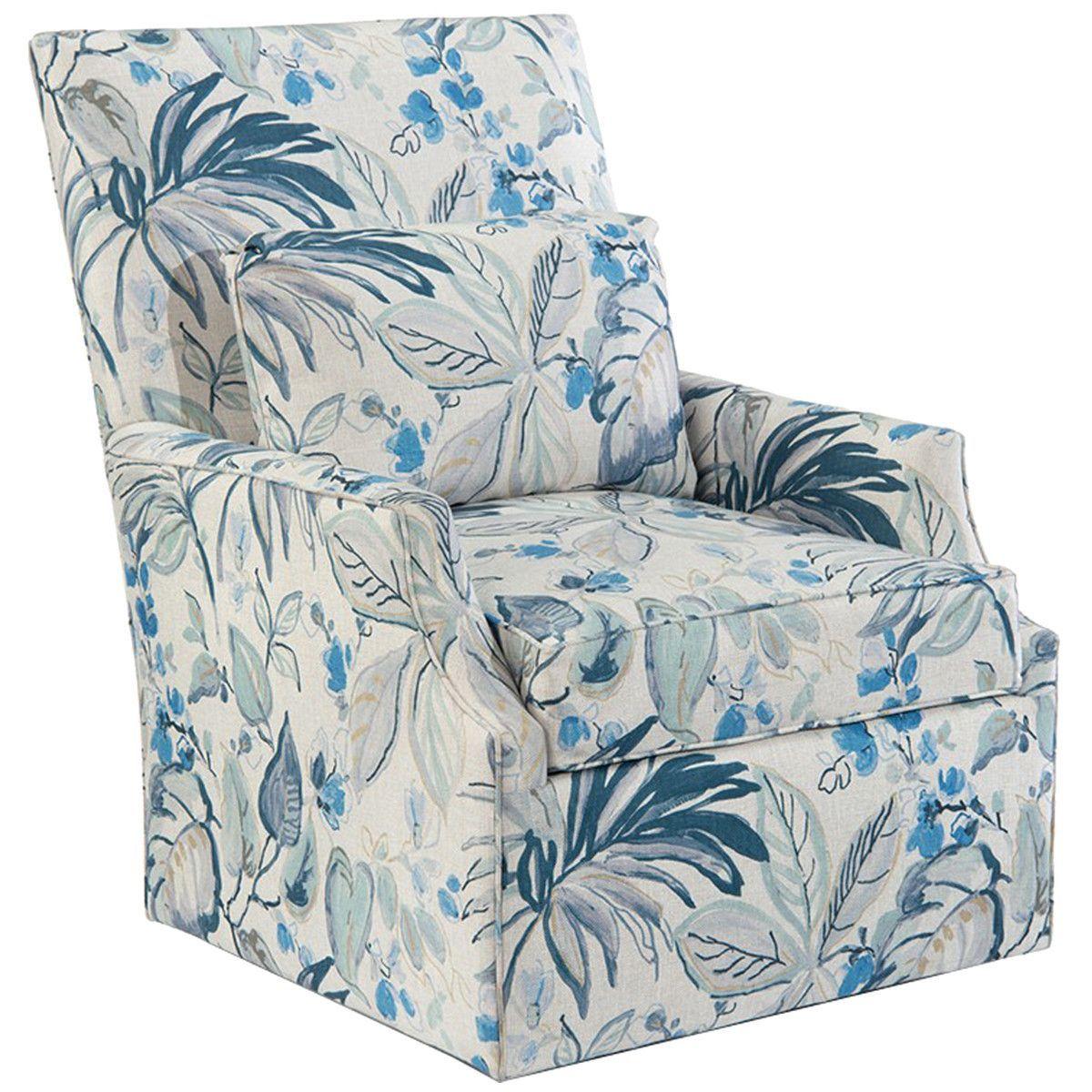 John Richard 2087 Fabric High-Back Scoop-Arm Swivel Club Chair