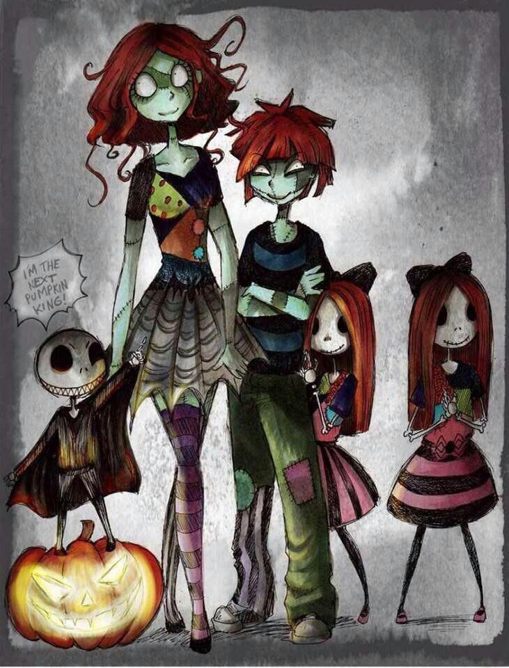 Sally and Jack nightmare before Christmas kids | Nightmare Before ...