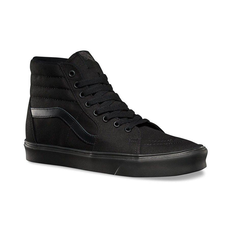 Scarpa Vans Sk8-Hi Lite Canvas Black · Black Canvas ShoesBlack ShoesSkate  ...
