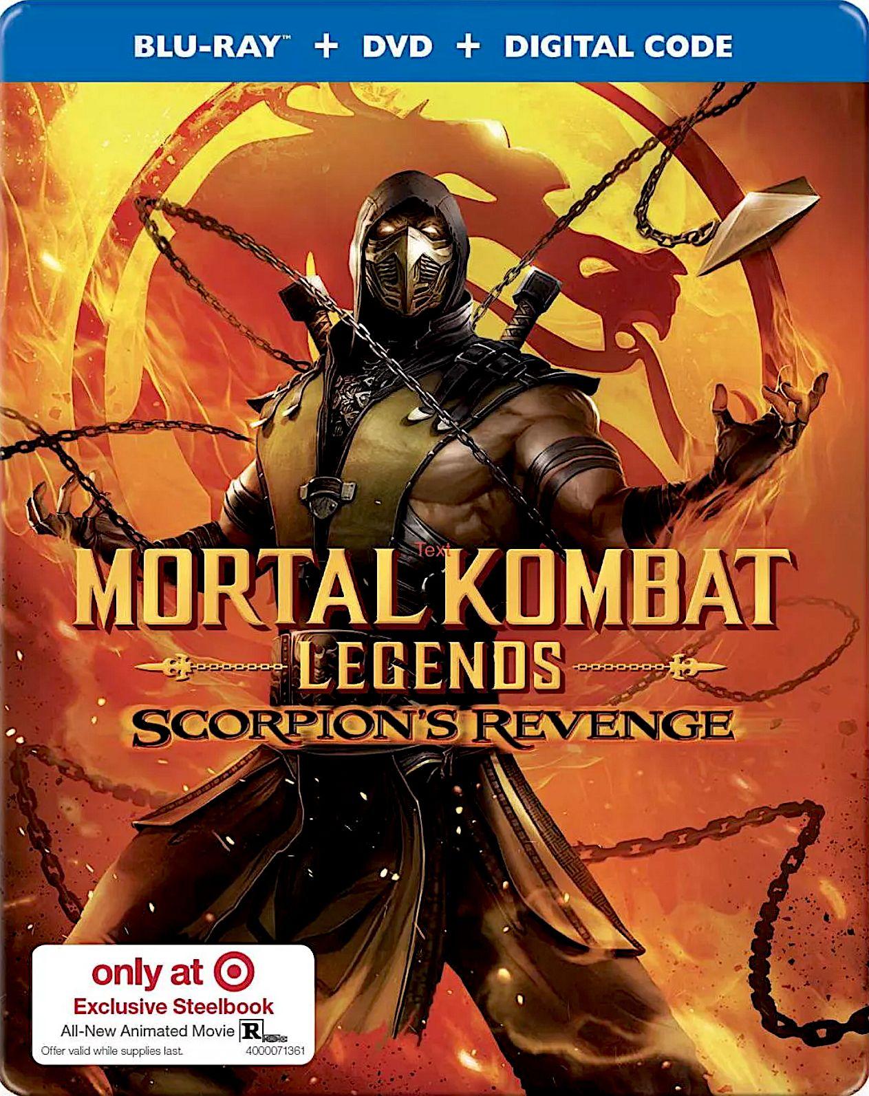 Mortal Kombat Legends Scorpion S Revenge Target Exclusive Blu Ray