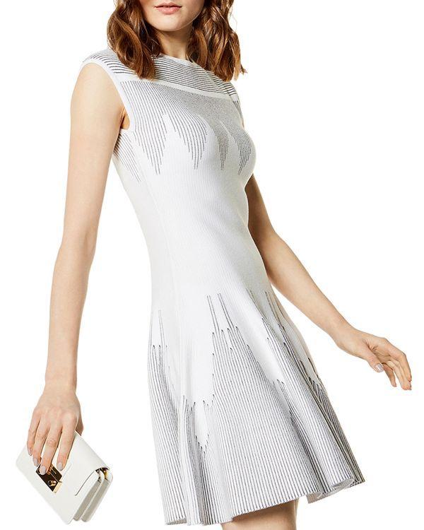 35a7596b15c Karen Millen Zigzag Knit Fit-and-Flare Dress