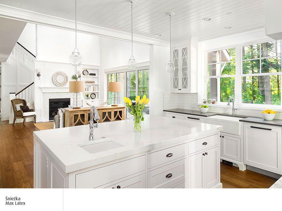 Biała Kuchnia I Ciemnejsza Podłoga Kuchnie Inspiracje