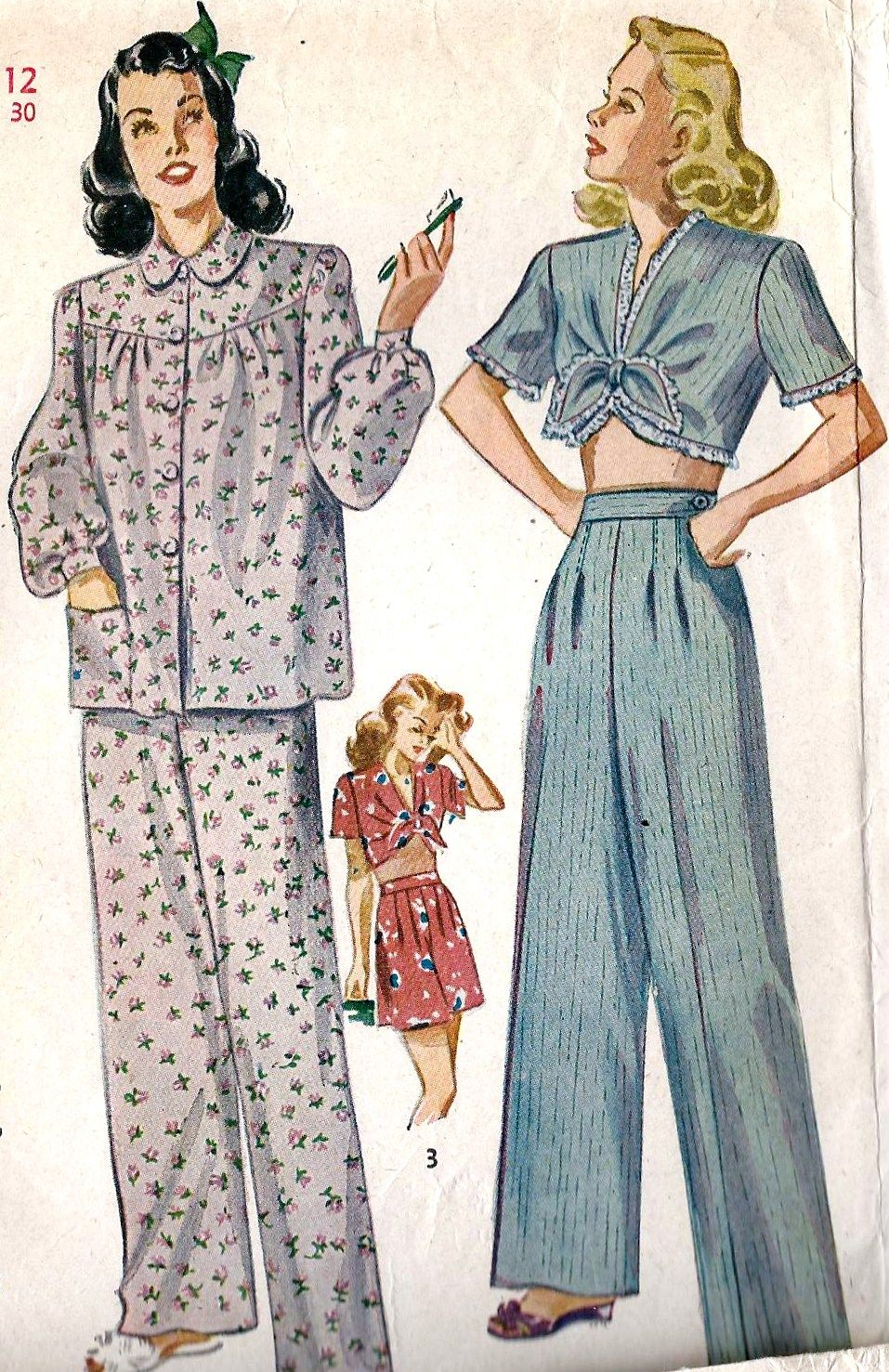 Adorable 1940s pajama style (Simplicity 1230).  vintage  sewing  pattern   1940s 6a0950659