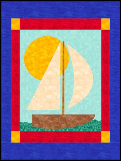 Sailboat Baby Quilt pattern