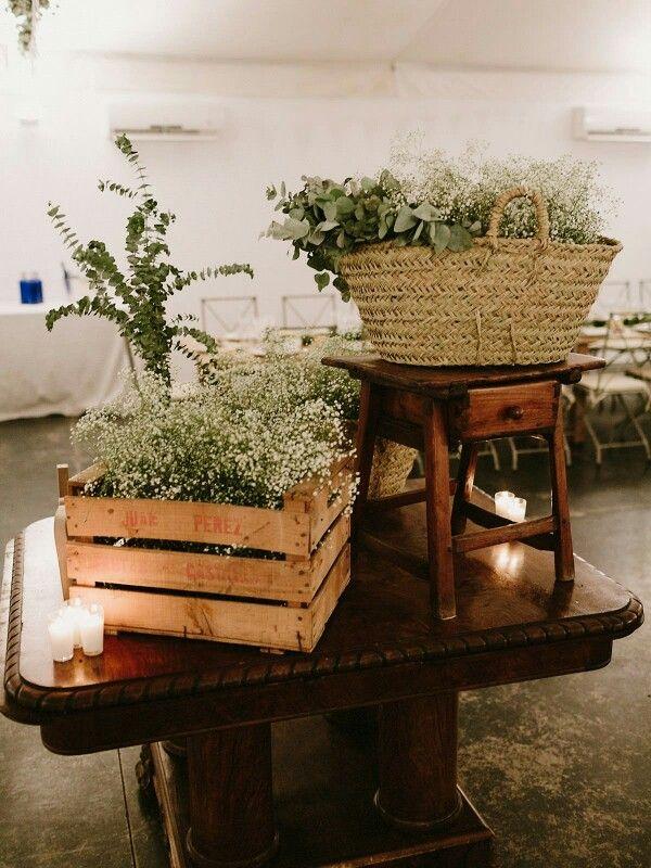 Bodasomethingblue centros de mesa r sticos boda rustic - Centro de mesa rustico ...