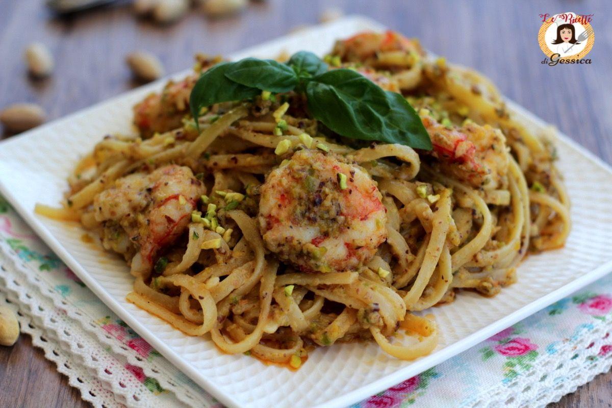 Ricetta Della Pasta Con Pesto Di Pistacchi E Gamberi Un Primo