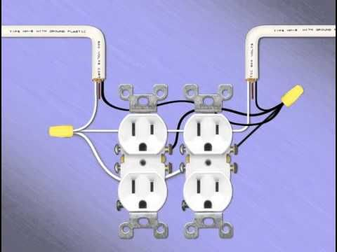 wall outlet diagram rj45 wall outlet wiring diagram installing 14 two gang receptacles - youtube | remodel ... #8