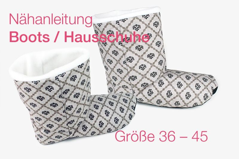 n hanleitung boots hausschuhe schuhe selber n hen von tikata n hanleitungen taschen selber. Black Bedroom Furniture Sets. Home Design Ideas