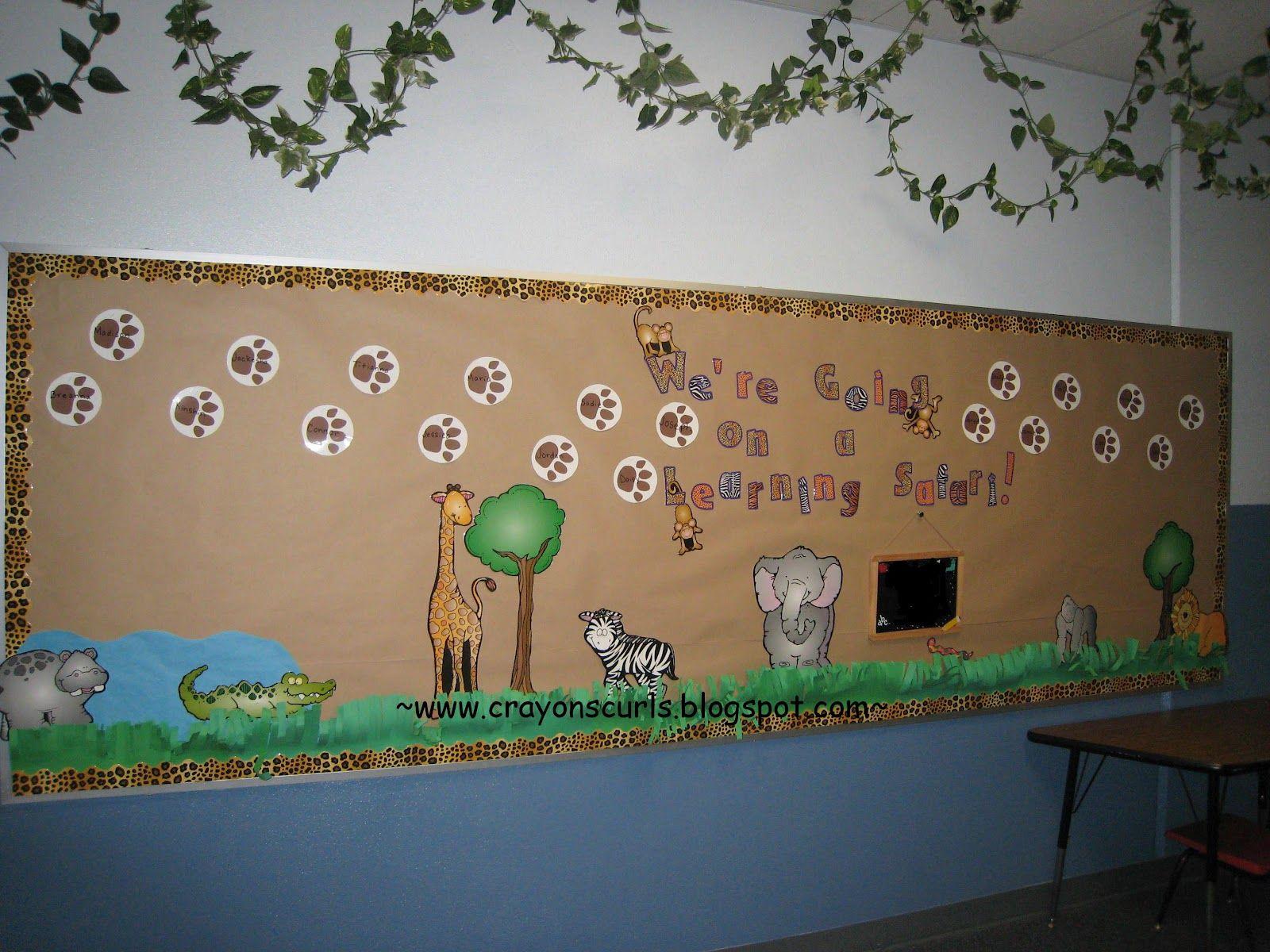 Google themes on safari - Back To School Safari Theme Bulletin Board From Crayons Curls