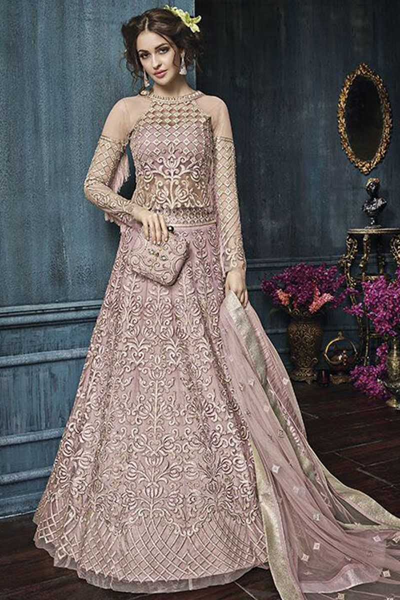 f277efe728e Traditional Pink Heavy Embroidered Wedding Wear Occasionally Bollywood  Fashion Party Wear Collection Indian Bride Actress Choice Fancy Anarkali  Suit ...