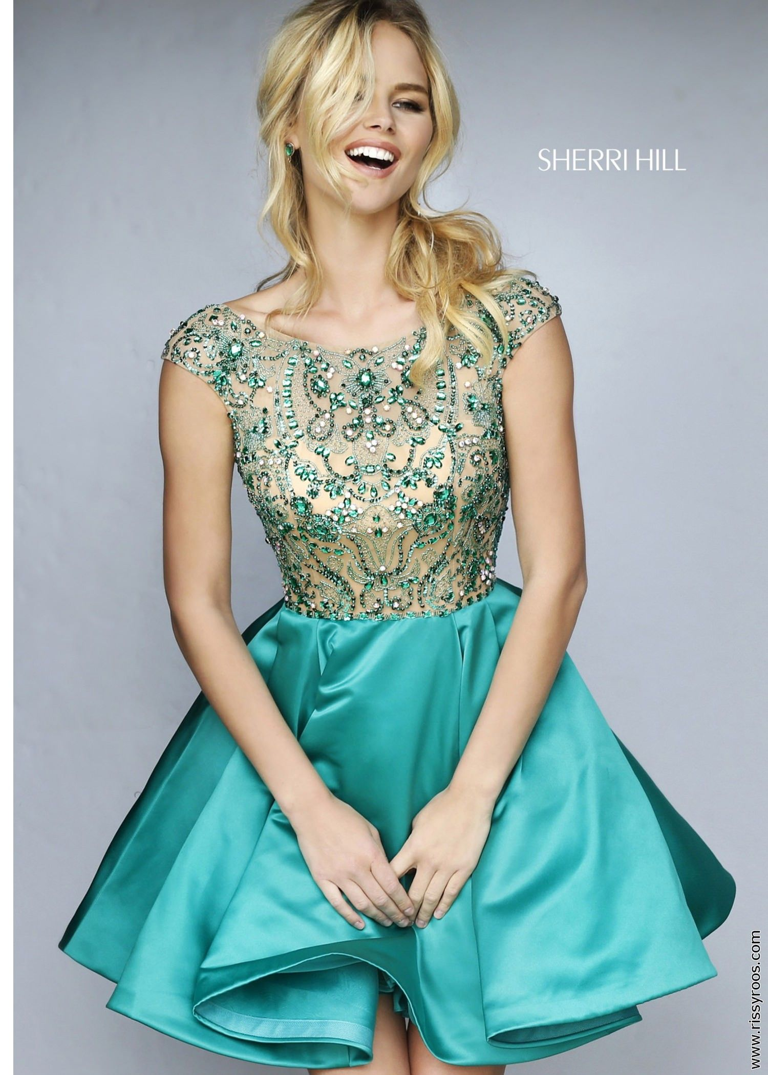Sherri Hill 32273 Beaded Satin Party Dress * | prom and formal ...