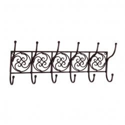 Tuscan Wrought Iron Metal Wall Hook Coat Rack Towel Holder Made Of A Sturdy