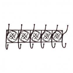Tuscan Wrought Iron Metal Wall Hook Coat Rack Towel Holder Made